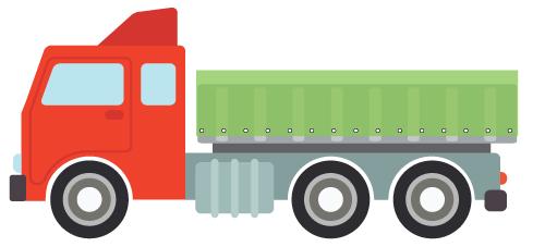 Teloni camion in PVC e rete in nylon